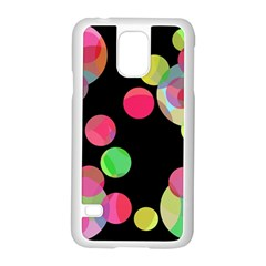 Colorful decorative circles Samsung Galaxy S5 Case (White)