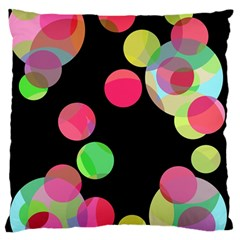 Colorful decorative circles Large Flano Cushion Case (Two Sides)