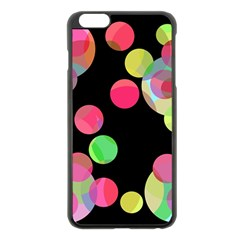 Colorful decorative circles Apple iPhone 6 Plus/6S Plus Black Enamel Case
