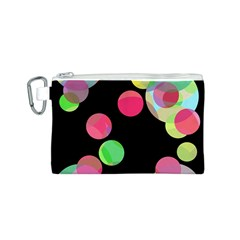 Colorful decorative circles Canvas Cosmetic Bag (S)