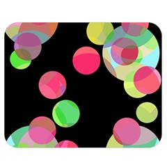 Colorful decorative circles Double Sided Flano Blanket (Medium)
