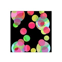 Colorful decorative circles Satin Bandana Scarf