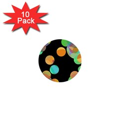 Orange circles 1  Mini Buttons (10 pack)
