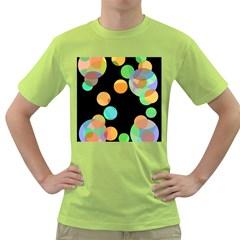 Orange circles Green T-Shirt