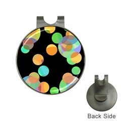 Orange circles Hat Clips with Golf Markers