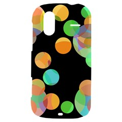 Orange circles HTC Amaze 4G Hardshell Case