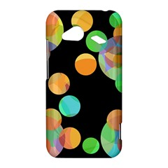 Orange circles HTC Droid Incredible 4G LTE Hardshell Case