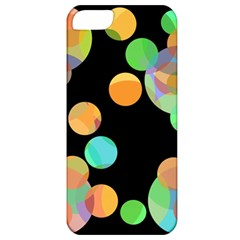 Orange circles Apple iPhone 5 Classic Hardshell Case