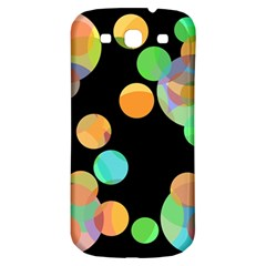 Orange circles Samsung Galaxy S3 S III Classic Hardshell Back Case