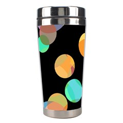 Orange circles Stainless Steel Travel Tumblers