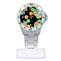 Orange circles Plastic Nurses Watch