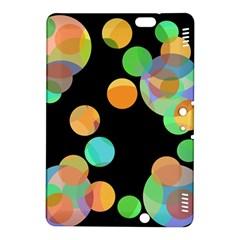 Orange circles Kindle Fire HDX 8.9  Hardshell Case