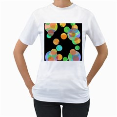 Orange circles Women s T-Shirt (White)