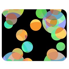 Orange circles Double Sided Flano Blanket (Medium)