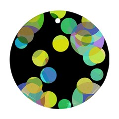 Yellow circles Ornament (Round)