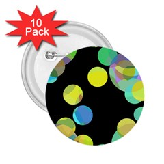 Yellow circles 2.25  Buttons (10 pack)