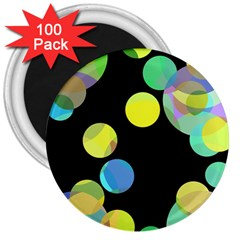 Yellow circles 3  Magnets (100 pack)