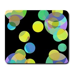 Yellow circles Large Mousepads
