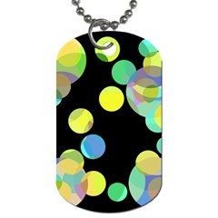 Yellow circles Dog Tag (One Side)