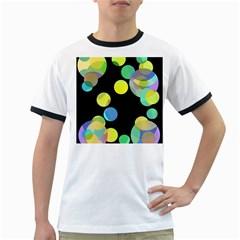 Yellow circles Ringer T-Shirts
