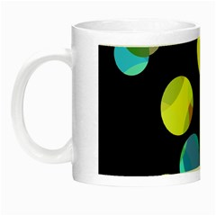Yellow circles Night Luminous Mugs