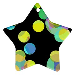 Yellow circles Star Ornament (Two Sides)