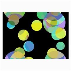 Yellow circles Large Glasses Cloth (2-Side)