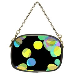 Yellow circles Chain Purses (Two Sides)