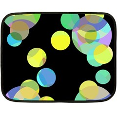 Yellow circles Double Sided Fleece Blanket (Mini)