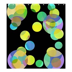 Yellow circles Shower Curtain 66  x 72  (Large)