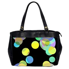 Yellow circles Office Handbags (2 Sides)