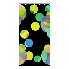 Yellow circles Shower Curtain 36  x 72  (Stall)
