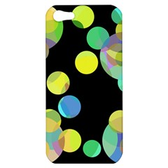 Yellow circles Apple iPhone 5 Hardshell Case