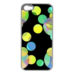 Yellow circles Apple iPhone 5 Case (Silver)