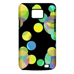 Yellow circles Samsung Galaxy S II i9100 Hardshell Case (PC+Silicone)