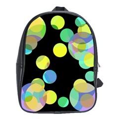 Yellow circles School Bags (XL)