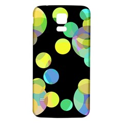 Yellow circles Samsung Galaxy S5 Back Case (White)