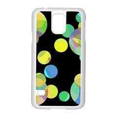 Yellow circles Samsung Galaxy S5 Case (White)