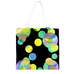 Yellow circles Grocery Light Tote Bag
