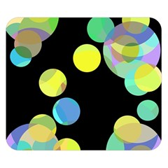 Yellow circles Double Sided Flano Blanket (Small)