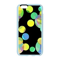 Yellow circles Apple Seamless iPhone 6/6S Case (Color)