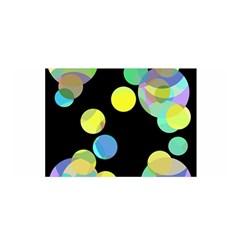 Yellow circles Satin Wrap