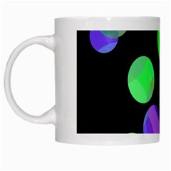 Green decorative circles White Mugs