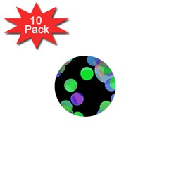 Green decorative circles 1  Mini Buttons (10 pack)