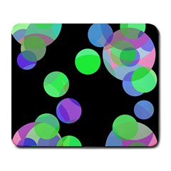 Green decorative circles Large Mousepads