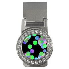 Green decorative circles Money Clips (CZ)