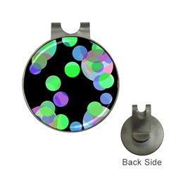 Green decorative circles Hat Clips with Golf Markers