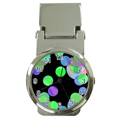Green decorative circles Money Clip Watches