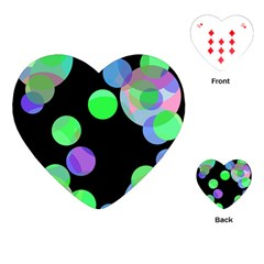Green decorative circles Playing Cards (Heart)