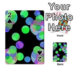 Green decorative circles Playing Cards 54 Designs